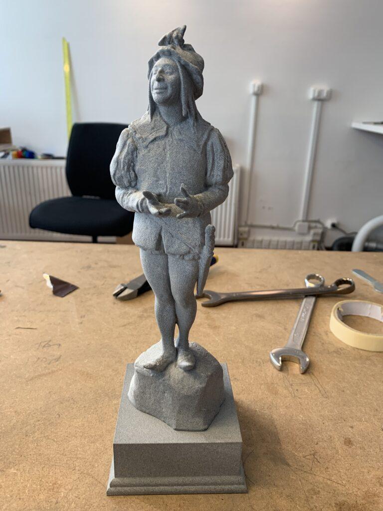 3D printet statuette til litteraturprisen