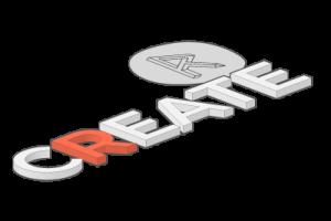 Republikken Create logo i 3D